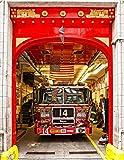 Doorlv Stickers Muraux Autocollant De Porte De Camion De Pompiers 3D Usa Pour L'Art De Cadeau De Chambre À Coucher De Salon Pvc Imperméable À L'Eau De Porte Autocollant