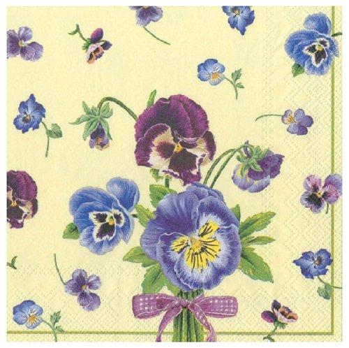 Ideale Gamma 20Tovaglioli di carta Violas Yellow