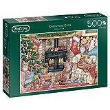 Falcon de Luxe Christmas Cats 500 pcs Puzzle - Rompecabezas (Puzzle Rompecabezas, Navidad, Niños y Adultos, Niño/niña, 12 año(s), Interior)