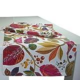 beties Zauberwald Tischläufer ca. 40x150 cm in interessanter Größenauswahl hochwertig & angenehm 100% Baumwolle Farbe (Elfenbein-bunt)