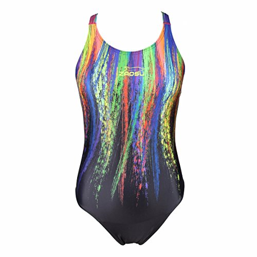 ZAOSU Schwimmanzug Z-Painted Love - Badeanzug für Damen und Mädchen, Größe:164