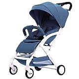 QXMEI Infant Kinderwagen Für Neugeborene und Kleinkinder - Convertible Stubenwagen Zu Kinderwagen Kinderwagen,Blue