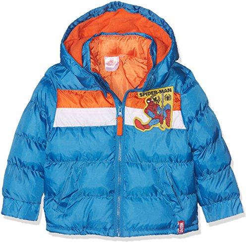 Spiderman web line cappotto, blu (blue 18-4247tc), 7-8 anni bambino