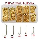 Shaddock Fishing  230 Stück 79580Angelhaken zum Fliegenfischen, 230 Stück, mit Tackle-Box.