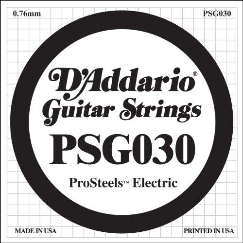 D'Addario PSG030 - Cuerda para guitarra eléctrica de acero.030