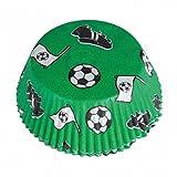 Party Palast Party Dekoration Cupcake Förmchen Fußball Print Feier Weltmeisterschaft, 48 Stück, Grün