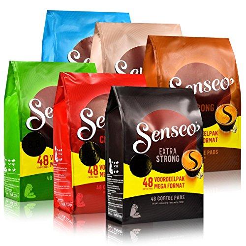 6x Senseo Kaffee-Pads Set alle Sorten 48er Pads - für alle Padmaschinen