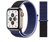 Nylon Armband für Apple Watch in Mitternachtsblau 38/40mm passend für Apple Watch 1 2 3 4 5