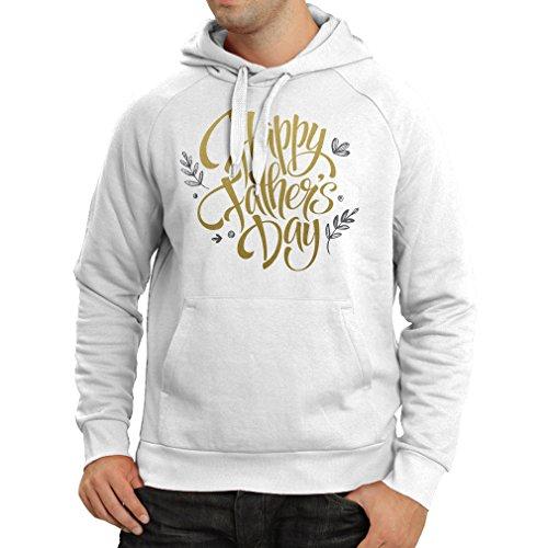 Sweatshirt à capuche manches longues Joyeux jour des pères - meilleur cadeau d'une femme, d'un fils ou d'une fille (X-Large Blanc Multicolore)