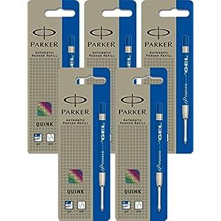 5x Parker Gelmine, Strichstärke M, 1er Blister blau