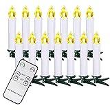 10/20/30/40ER Natale candele LED catena luci candele weihnachtsbaum candele con telecomando senza fili, bianco, 20er