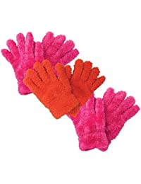 3 multipack kids girls childrens colourful magic gloves for cold weather