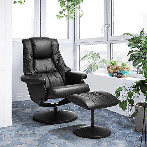 Lemonde poltrona relax loisir sedia da ufficio sedia da ufficio reclinabile con poggiapiedi in pu pelle sostenibile