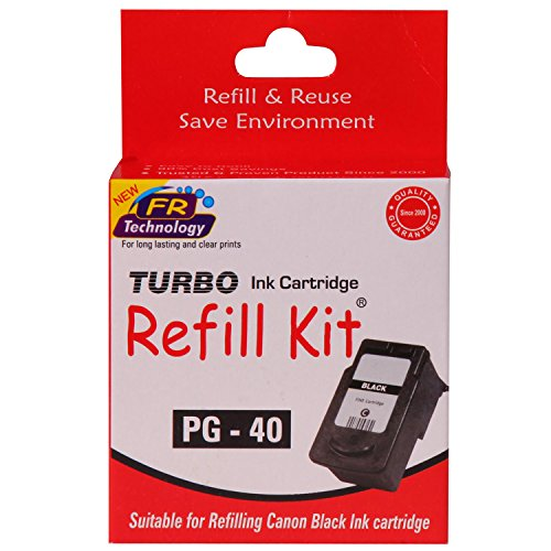 Turbo Refill Kit for Canon PG 40 Black Ink Cartridge  available at amazon for Rs.354