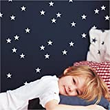 Wandaufkleber 56 kleine Sterne je 40mm Wandtattoo Wandsticker Sticker Wanddeko Kinderzimmer Schlafzimmer Himmel