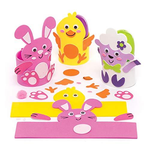 Baker ross kit porta uova di pasqua (confezione da 6) - creazioni pasquali per bambini, da realizzare, decorare e utilizzare