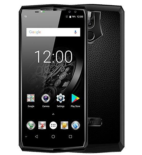 OUKITEL K10 - 6,0 Zoll FHD + (18: 9 alle Bildschirm) Android 4G Smartphone, 11000mAh Akku & 5V / 5A Schnellladung, Octa Core 2.0GHz 6GB + 64GB, Quad-Kamera, Gesichtserkennung - Schwarz