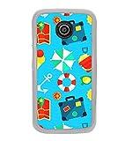 Fiobs Designer Back Case Cover for Motorola Moto E :: Motorola Moto E XT1021 (Funky Funny Beach Party Umbrella Cartoon)