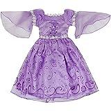 Katara - Disfraz de princesa Rapunzel o de Sofía de Disney vestido color violeta  para niñas - ideal para Halloween o Navidad