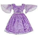 Katara - Déguisement de Princesse Sofia ou Raiponce pour enfants Robe pour fille en satin violet avec paillettes/ Pour anniversaire, Carnaval, Halloween, Mardi-Gras - 7-8 ans