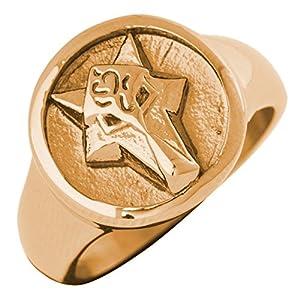 Akitsune Ferus Ring | Fuchs Design-Ring Frauen Herren Siegelring Edelstahl – Mattschwarz, Rosegold, Gold, Silber
