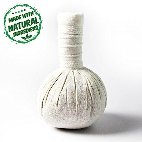 5 x Kräuterstempel Thai Kräuter 200g (Gramm) - MyThaiMassage - für traditionelle Massagen & Wellness - 100% natürliche Zutaten in einem unbehandelten Baumwoll-Tuch