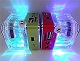 DD Portable Kartenlautsprecher Kleine Stereoanlage, Subwoofer U Disk Mp3 Player, Radiowecker, Green,Green
