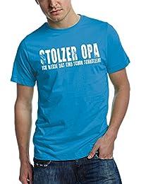 Opa T-Shirt Stolzer OPA - Ich werde das Kind schon schaukeln - vintage print teal XXL