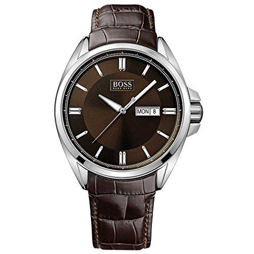 Hugo Boss Gents Watch XL Analogue Quartz 1513037 Leather