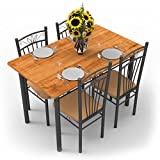 #7: Forzza Hunter Four Seater Dining Table Set (Light Walnut)