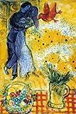 Poster 'Die Verliebten', von Marc Chagall, Größe: 61 x 91 cm