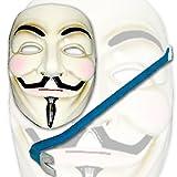Panzerknacker Karneval Set mit Anonymus Maske + Brecheisen