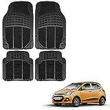 #3: Vheelocityin Hyundai Grand i10 Car Mat Black / Black rubber Foot Mat For Hyundai Grand i10