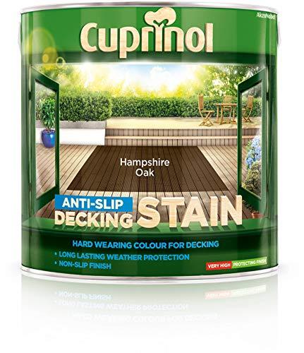 Pintura antideslizante Cuprinol, para terrazas de madera, roble Hampshire (2,5l)