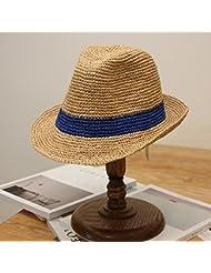 Las mujeres toldos plegables artesanales no domo Holiday Beach Sun jazz sombreros de paja y el blue bar.