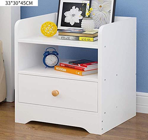 IG Haushalts-Nachttische Mini Wood-Based Panel Nachttisch, mit Schublade und Ablage, Schlafzimmer Locker Nacht Aufbewahrungsbox,# 2 - 2 Schubladen Naturholz-nachttisch