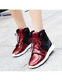 Ocio ayuda alta zapatos mujer zapatos gruesos salvajes otoño invierno deportes están aumentando en la parte superior...