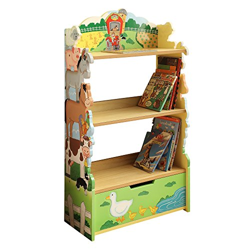 Fantasy Fields Kinder Farm Bauernhof Kids Holz-Bücherregal Stauraum TD-11329A
