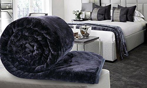 Dickens Faux Fur Throws Fleece Blanket Mink Sofa Bed