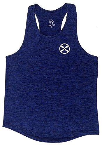 Ox Fit Uomo Canotta Canotta senza maniche Stringer Vest Training Canotta Gym Sport Running Heather Navy