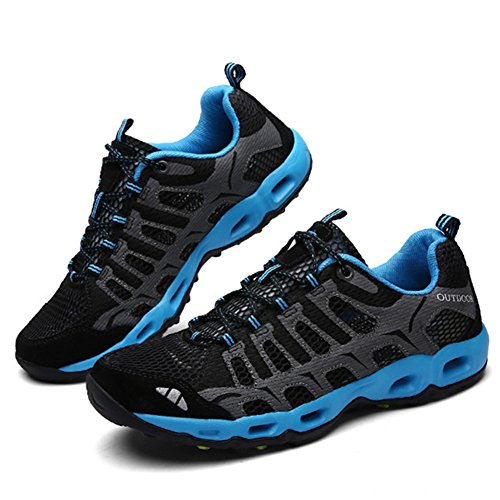 SGoodshoes Unisex-Erwachsene Schnell Trocknend Schuh Laufschuhe Herren Damen Bergschuhe Mesh Low-Top Wasser-Schuhe Trekking- und Wanderschuhe Outdoor Schuhe Blau