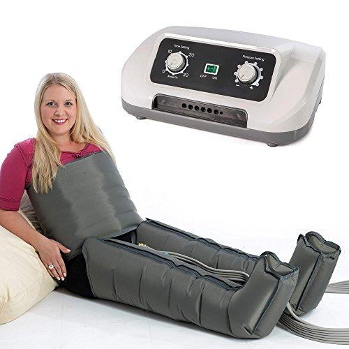 Preisvergleich Produktbild VENEN ENGEL ® 6 Druckwellen Massage-Gerät für Bauch & Beine :: 6 Luftpolster für gleitende Druckmassage an Füßen,  Beinen,  Bauch & Taille :: Top-Kundenservice & Qualität