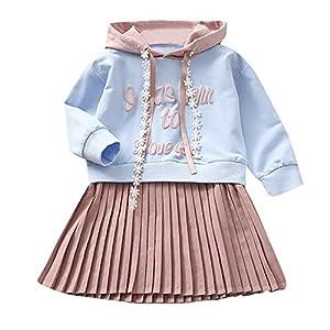 Proumy ◕ˇ∀ˇ◕ Baby Mädchen Kleider Prinzessin Kleid KinderLangarm Herbst Kleider Vintage Abendkleider Hochzeits Partykleid Festlich Kleider