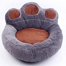 Ximger Cama Antideslizante Mascotas, con Forma de Pata, sofá Cama para Perro con Suave