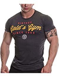 Golds Gym Herren Vintage Performance Shirt mit Aufdruck
