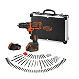 Black + Decker BDCDD12BAFC-QW BDCDD12BAFC Bohrmaschine, 10.8 V, Schwarz/Orange