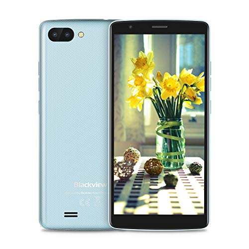 Blackview A20 Smartphone Ohne Vertrag Günstig, 3000mAh Batterie, Android 8.1 Oreo GO, 5.5 Zoll + 18:9 Touch-Display mit 8GB interner Speicher, 3G Dual SIM Smartphone Blau