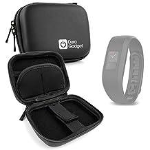 Housse étui rigide + passant de ceinture pour montre connectée Garmin Vivoactive HR et Vivofit 3, OUKITEL A28 SmartWatch, Jawbone UP2 et Runtastic Orbit - noir, par DURAGADGET