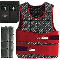 We R Sports Adjustable Weighted Weight Vest Loss Training Exercise Crossfit LIMITED EDITION (Red, 30KG)