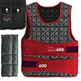 We R Sports Weighted Weight Vest Loss Training Exercise Crossfit LIMITED EDITION (Red, 15KG)